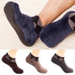 1 Pairs Mens Wool Fleece Mixture Warm Soft Thick Casual Ankl