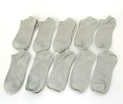 WeciBor 10 Pack Grey Men's Ankle Dress Combed Fun No Show