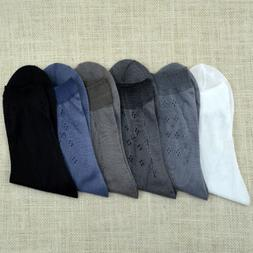 10 Pairs Mens Bamboo Charcoal High Ankle Sock Pure Color She