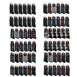 12 Pairs 1 Dozen Men's Dress Socks Fashion Multi Color Cotto