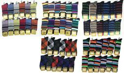 Goldstar 12 Pairs Dozen Mens Dress Socks Fashion Multi Color