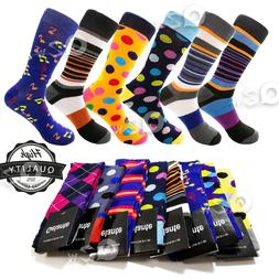 12 pairs mens colorful dress socks stripes