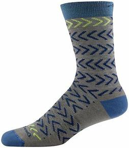 Darn Tough 1660 Men's Chevrons Crew Everyday Dress Socks, Ta