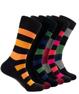 Men's Bamboo Casual Dress Socks Soft & Breathable Colorful P