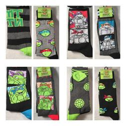 d4c5b0c1127c 2 Pair Teenage Mutant Ninja Turtles Dress Socks Men's Shoe S