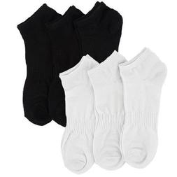 2 Pairs 4 count Mens Size 8-13 Low Cut Socks Black Athletic