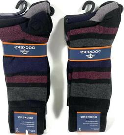 2 Pk Men's Dockers 3Pairs Blue Black Classics Dress Socks Fi