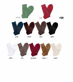 2Pair  Men's Silky Thick & Thin Dress Socks ONE SIZE FIT 10-