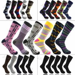 3 6 9 12 Pairs Funky Mens Colorful Argyle Diamond Dots Cotto