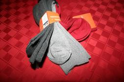 3 PACK MENS DOCKERS SOFT DRESS SOCKS STAY PUT TOP GRAYS & RE
