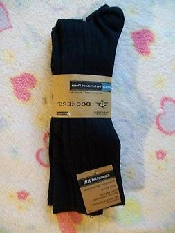 3 Pairs MEN'S DOCKERS PERFORMANCE DRESS SOCKS -Essential Rib