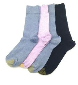 $38 GOLD TOE Men 2 PAIR PACK COTTON Ribbed Crew DRESS SOCKS