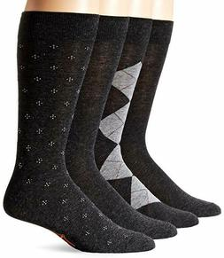 Dockers 4-pack Mens Crew Dress Socks Size 6-12 Charcoal Asso