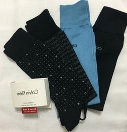 Calvin Klein 4-Pair Combed Cotton Blend Casual-Dress Socks-