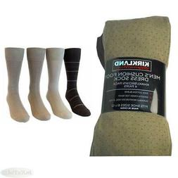 4 Pair Mens Kirkland Cushion Foot Dress Socks New Pima Cotto