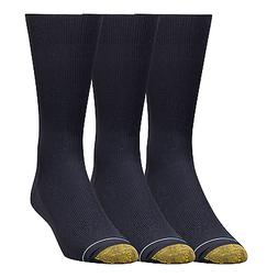 $44 GOLD TOE Mens 3 PAIR PACK METROPOLITAN Crew DRESS SOCKS