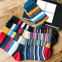 4Pair Men Ankle Cotton Socks Fashion Colorful Casual Striped