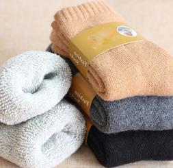 4Pairs Mens Wool Cashmere Warm & Soft Comfort Large Winter T