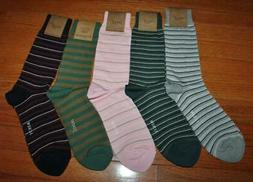 5 Pair NEW NWT Mens J.Crew J Crew Casual Dress Socks Stripes