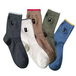 5pairs Men's Ankle High Socks Cotton Breath Dress Casual Bus