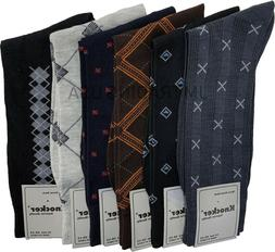 6, 12 Or 18 Pairs Mens Dress Socks Multi Color Print Casual