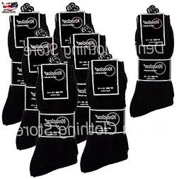 6~12 pairs Lot wholesale Knocker Men's Black Solid Dress Soc