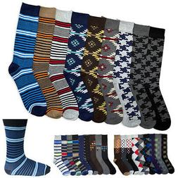 6 Pairs Men's Colorful Dress Socks Fun Funky Assorted Color