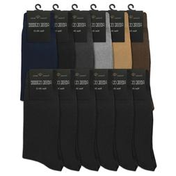 4 Pair Mens Kirkland Cushion Foot Dress Socks New Pima Cotton Blend Khaki Brown
