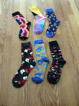 6 Prs WeciBor Men's Colorful Dress Party Socks  Lot #2