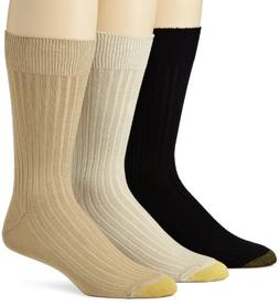 Gold Toe Men's 794S Canterbury 3 Pack Classic Dress Sock, Ta