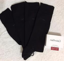 Calvin Klein 4-Pair Combed Cotton Casual/Dress Socks   Black