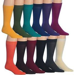 James Fiallo Men's 12-Pairs Solid Colored Bold Lightweight D