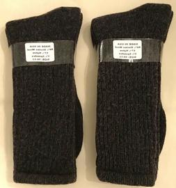 MERINO WOOL  2-PR CASUAL/DRESS CREW SOCKS BROWN SZ LG  FIT 8