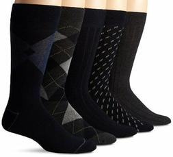 NEW Dockers Mens 5 Pack Classics Dress Argyle Crew Socks Nav