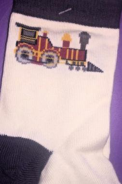 NWT Gymboree choo choo train holiday event dress socks 5 7 6