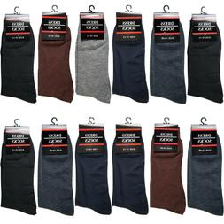New 12 Pairs Mens Dress Socks Fashion Casual Crew Multi Colo