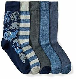 Amazon Brand - Goodthreads Men's 5-Pack Patterned Socks
