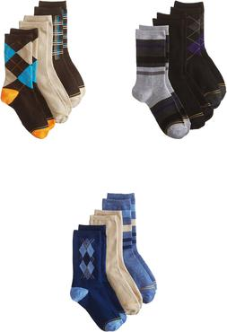 Gold Toe Big Boys' Fashion Dress Crew Socks, Assorted Colors