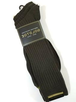 Gold Toe Men's Canterbury Extended Sock,3 Pack,Black, Sock S