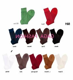 Classic 1 Pair Men's Silky Thick & Thin Dress Socks SIZE 10-