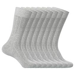 WANDER Classic Ribbed Dress Socks 8 pairs Men's Cotton Solid