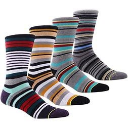 Colorful Striped Casual Socks for Men, MEIKAN High Performan