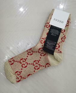 GUCCI Cotton Blend Socks One size Light Brown-red