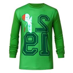 Wintialy Men Women Couple St Patrick's Day Print Long Sleeve