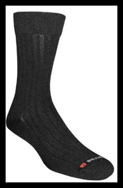 Drymax Dress Crew Socks, Black, Large