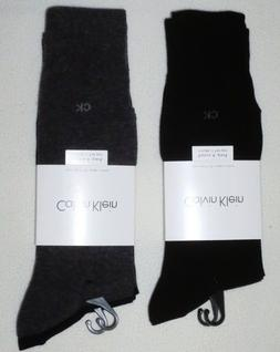 Calvin Klein Men's Dress Socks - 4 Pack - 2 Charcoal, 2 Navy