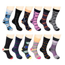 Mens Funky Dress Socks Fashion Casual Cotton12 Pairs Shoes S