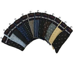 12 PAIR FASHION DRESS SOCKS MEN'S  DRESS SOCKS SIZE 10-13 CO