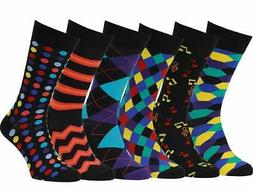 Easton Marlowe Mens Socks 6 Pack Colorful Fun Cool Patterned