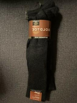 Gold Toe Extended Size 12-16 Fluffies 3 Pair Black Soft Acry